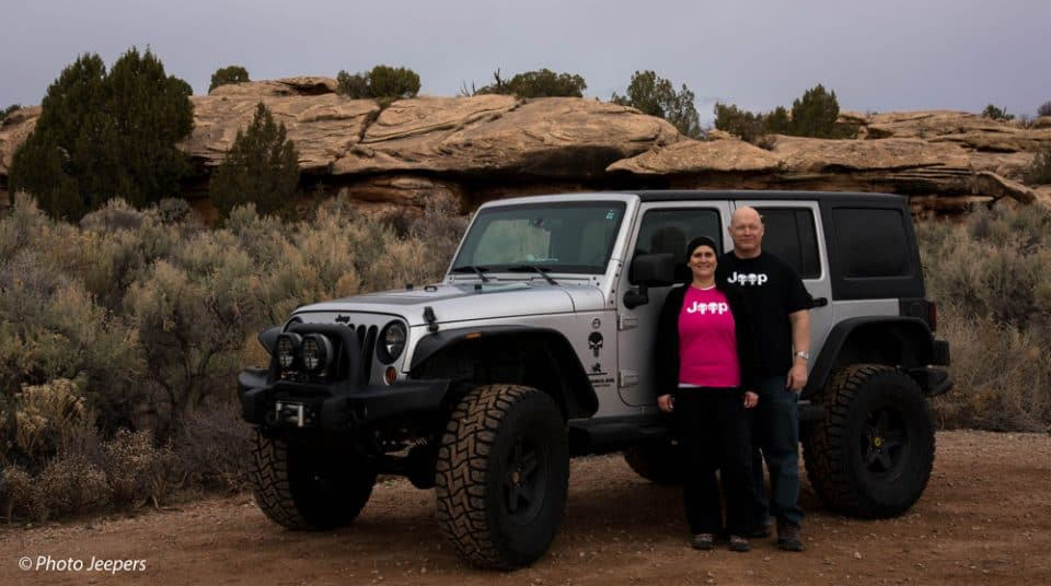 Dave and Jamie, Photo Jeepers at Canyonlands Needles