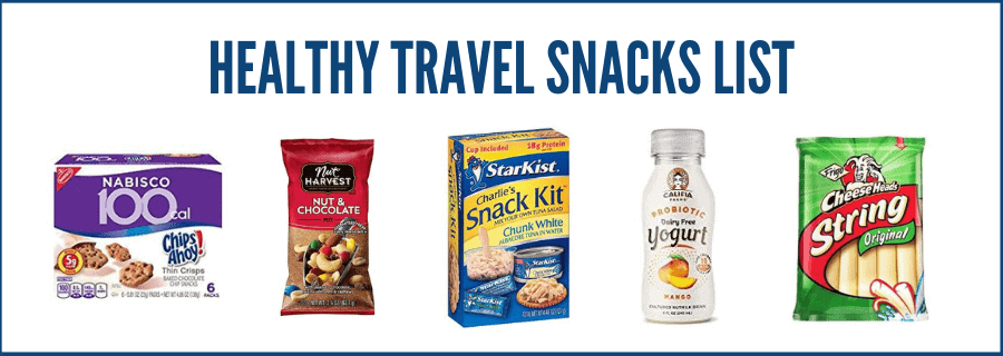 healthy travel snacks list