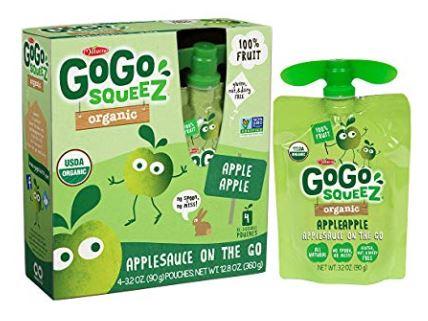organic applesauce pouch