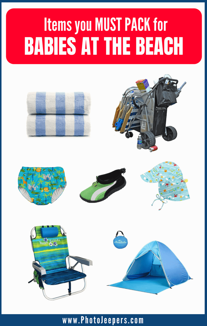 Items you must pack for Babies at the Beach
