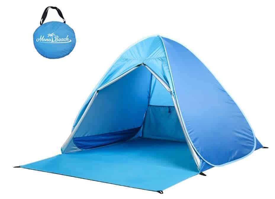 Blue baby beach tent