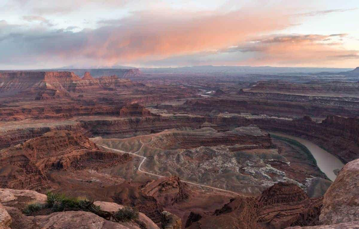 Dead Horse Point State Park at sunset.