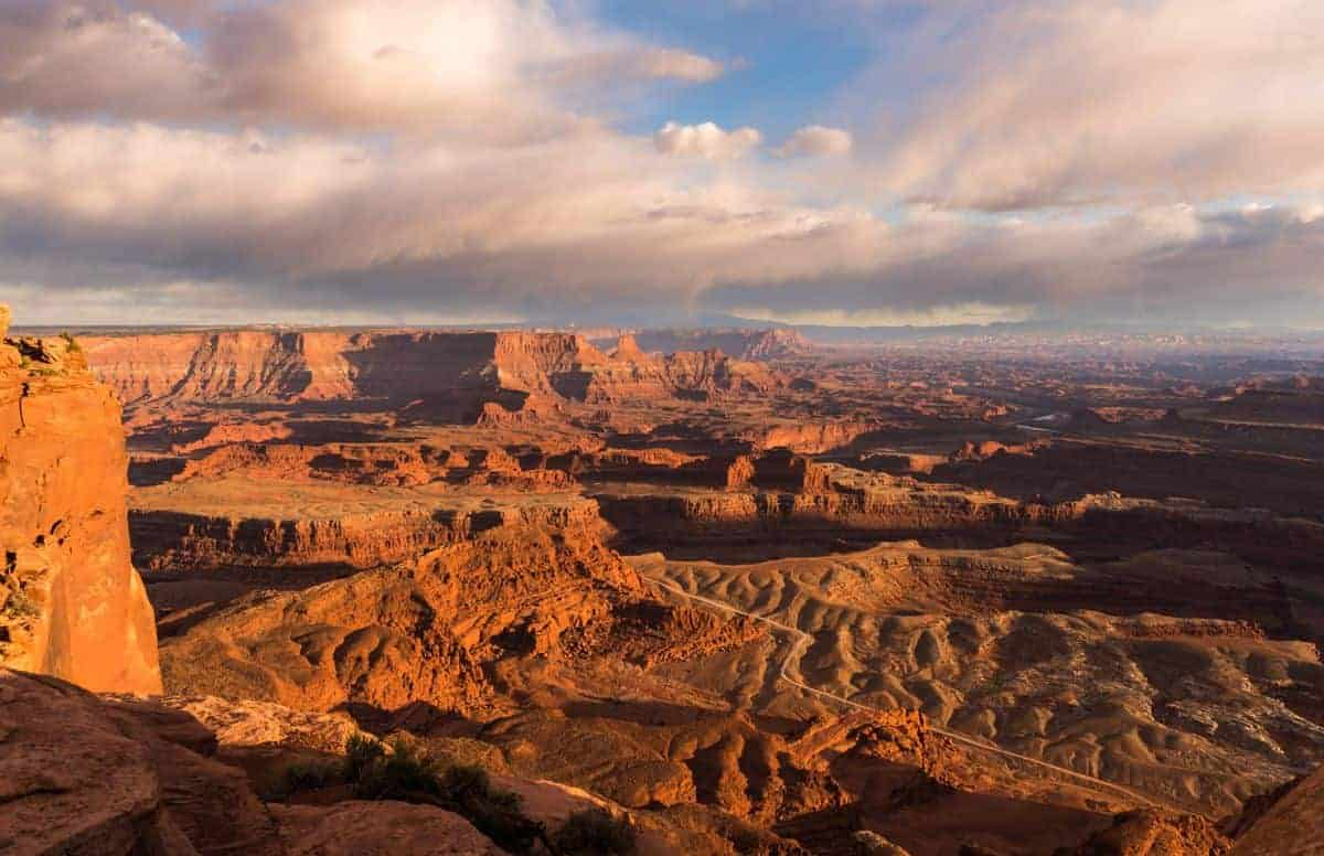 Sunset at Dead Horse Point is magical.