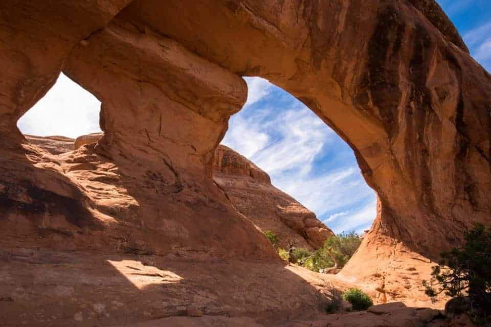 Partition Arch along the Devil's Garden Trail at Arches National Park, Utah, USA