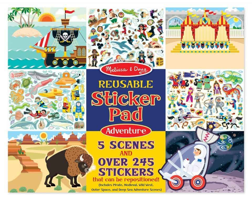 Sticker scenes are wonderful for flying with baby and toddler.