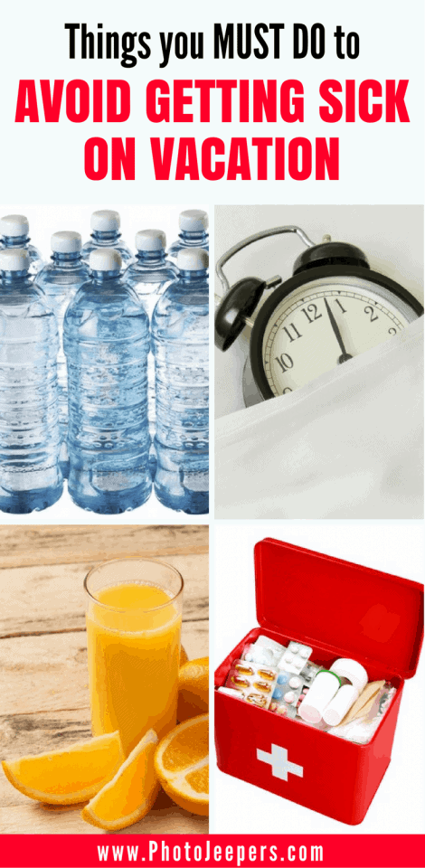 No one wants to be sick while traveling! Check out the ways we stay healthy while traveling. You'll want to save this to your travel board so you don't get sick on your vacation!