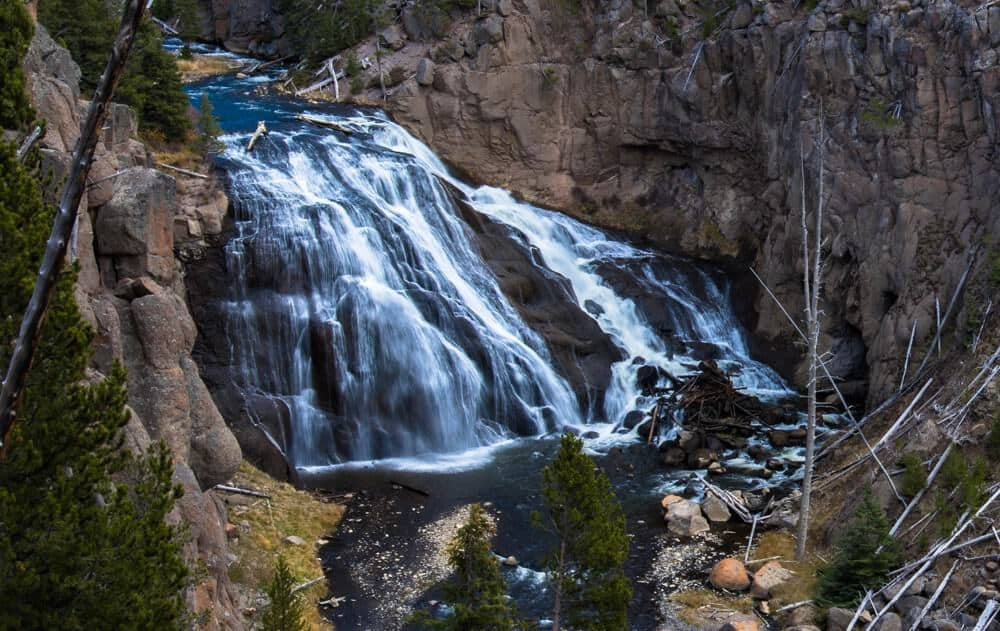 Gibbon Falls at Yellowstone in October
