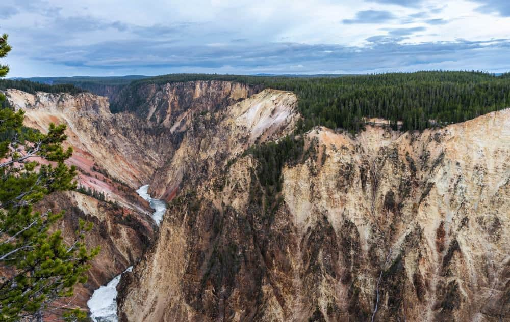 The Grand Canyon of Yellowstone with the Yellowstone River running through