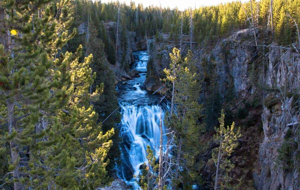 Kepler Cascades at Yellowstone National Park.