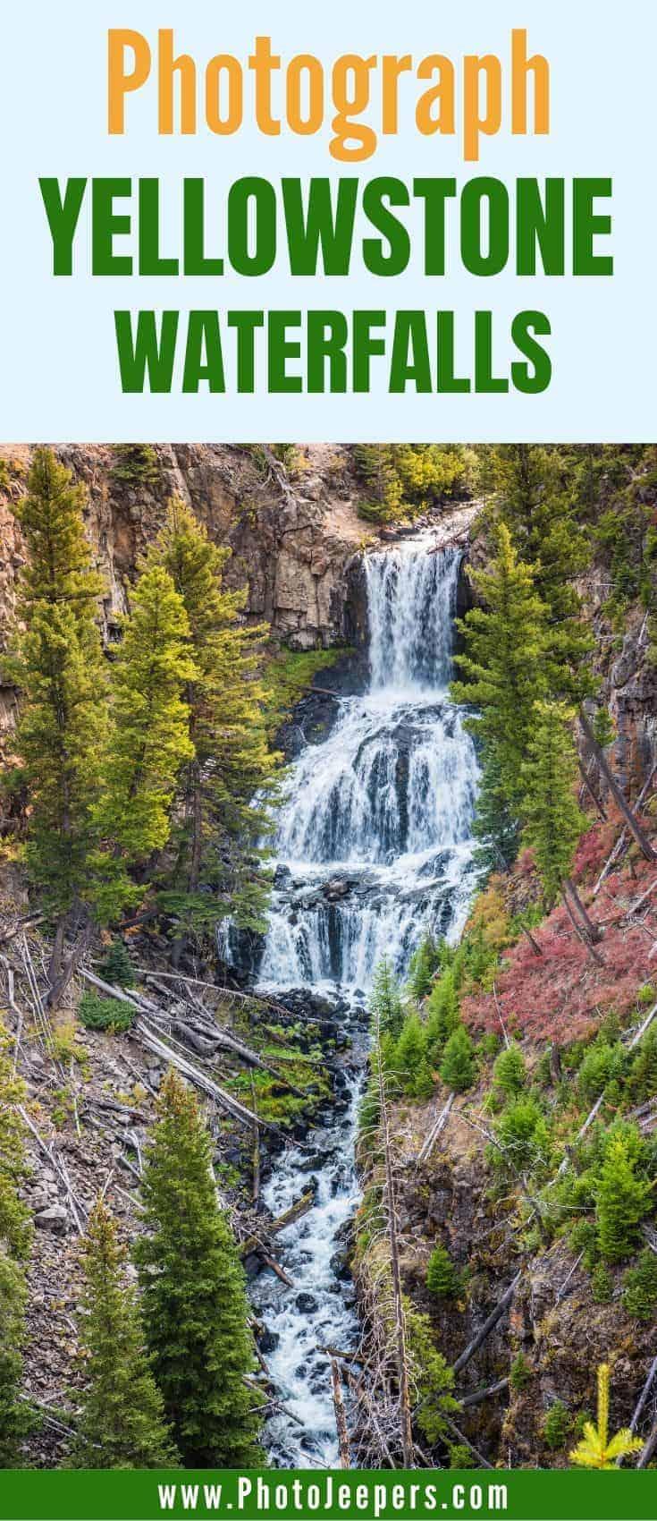 Photograph Yellowstone Waterfalls