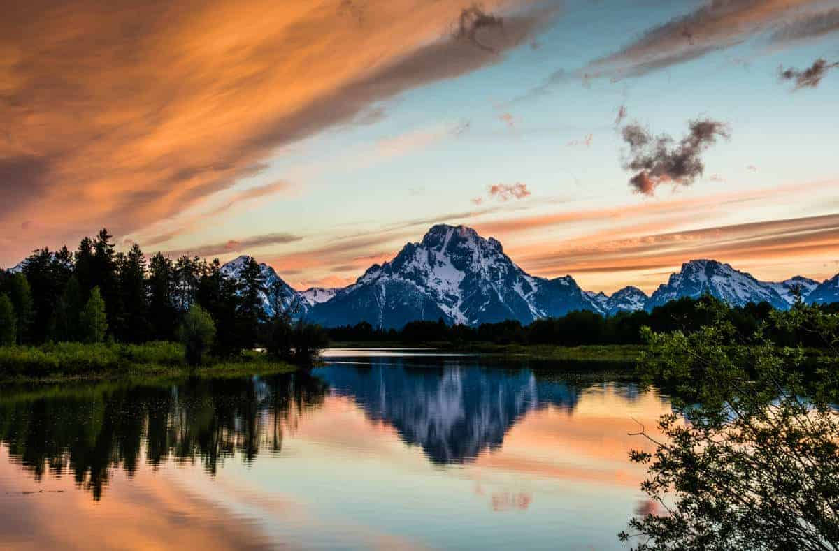 Oxbow Bend is a terrific location for reflection photography at Grand Teton.