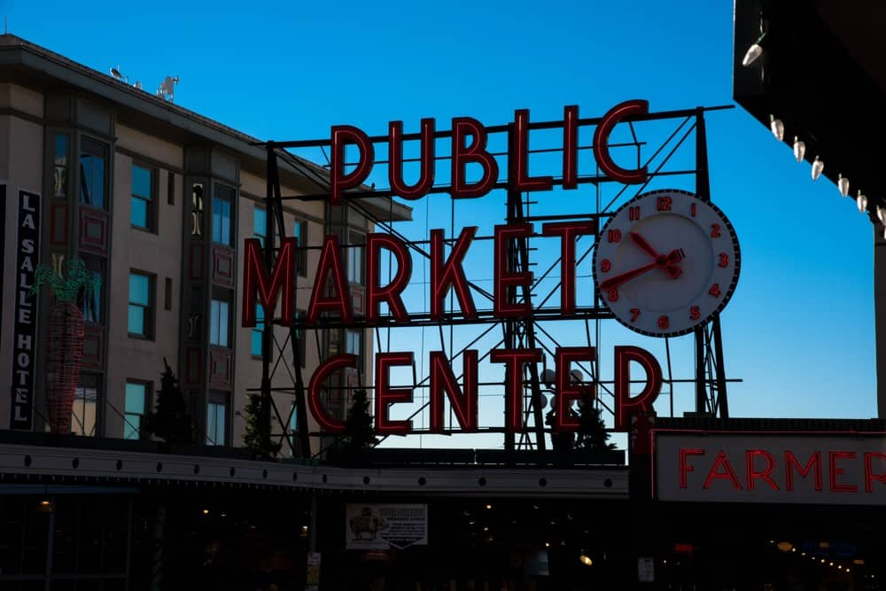 Pike Place Market Sign Seattle, Washington