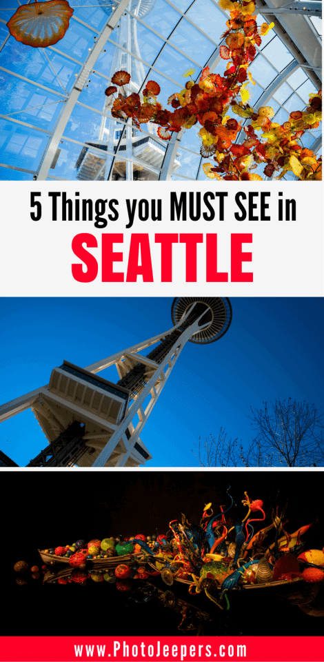 If you only have one day in Seattle, you want to make the best of it! Check out our One Day Seattle Itinerary to capture amazing photographs of a fun, eclectic city; iconic sites and colorful and unique art. This guide also includes things to see and do in Seattle. Don't forget to save this Seattle guide to your travel board.