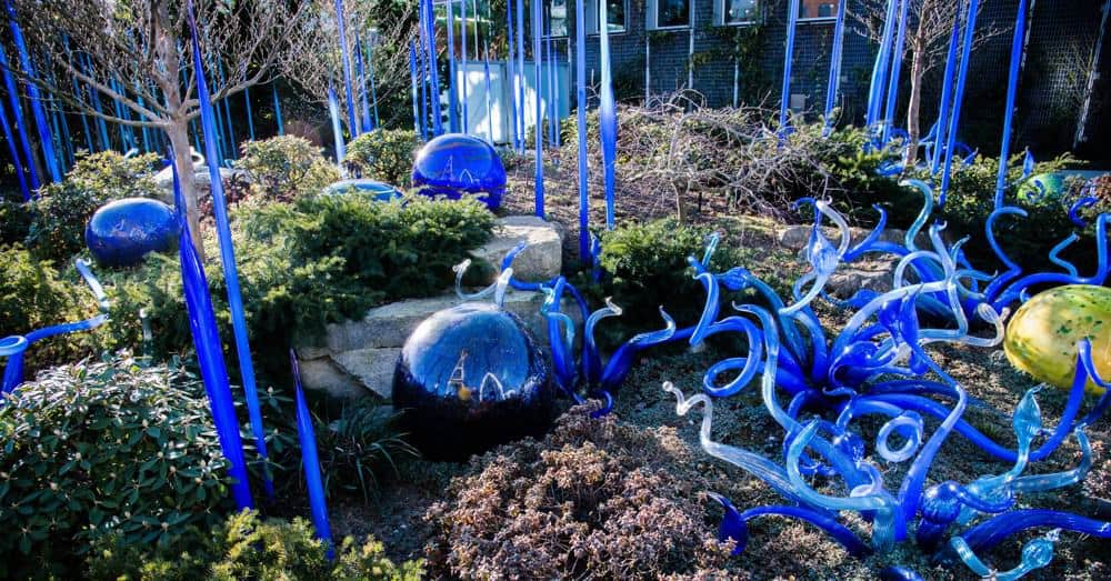 Chihuly Garden glass sculptures in Seattle, Washington