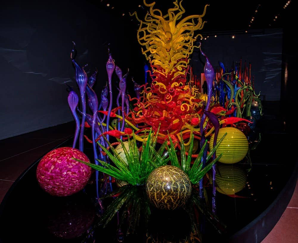 Chihuly glass sculptures in Seattle, Washington