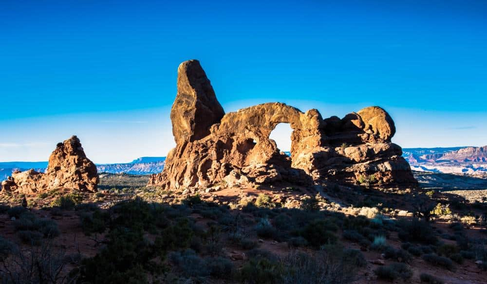 Turret Arch during the winter at Arches National Park