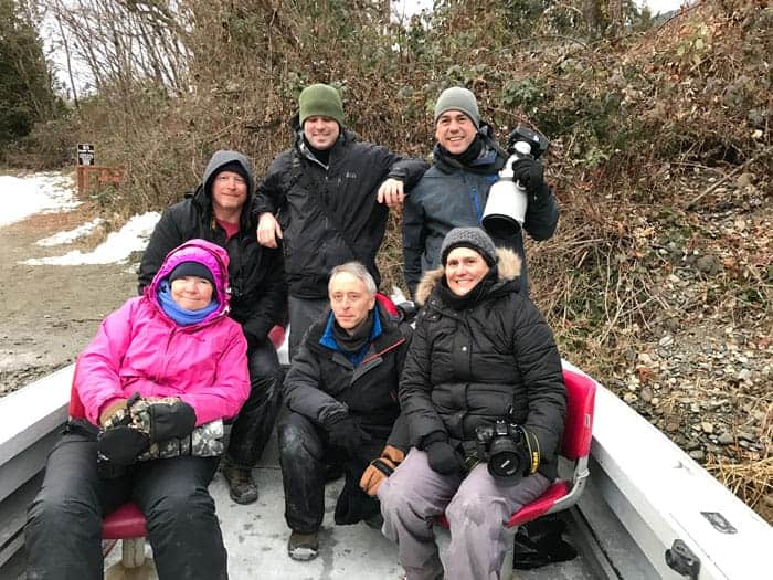 Bald Eagle Photography Tour group in January at the Skagit River, Washington