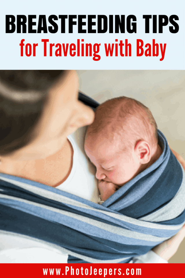 Traveling with an infant can be difficult, especially when your baby is still breastfeeding. I'm here to say that you should NOT be afraid to travel while breastfeeding! We're sharing some awesome tips for breastfeeding while traveling. This post includes tips for breastfeeding during air travel, road trips, beach days, amusement parks, and hiking! You'll definitely want to save this post about traveling with a baby to your travel board and share it with your friends.