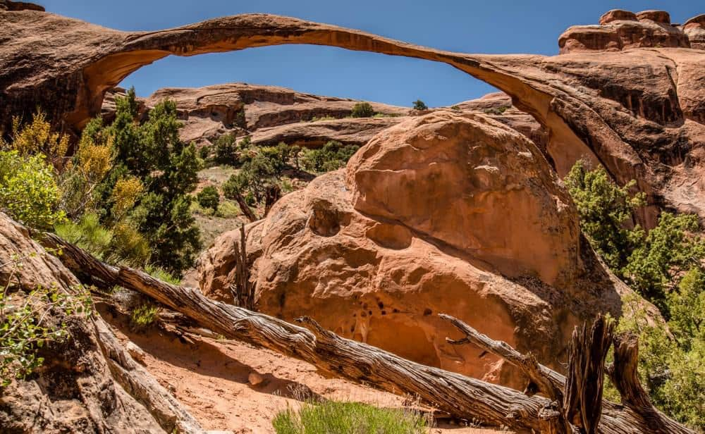 Landscape Arch is an amazing to do some Arches National Park Photography.