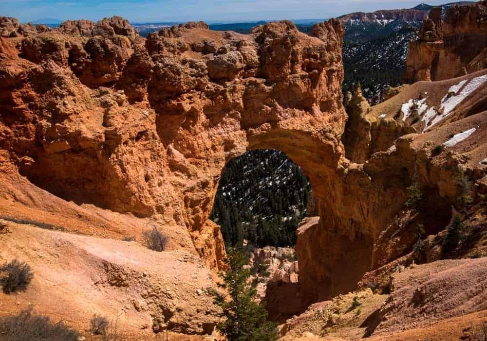 Bryce Canyon National Park Natural Bridge - view and photo spot