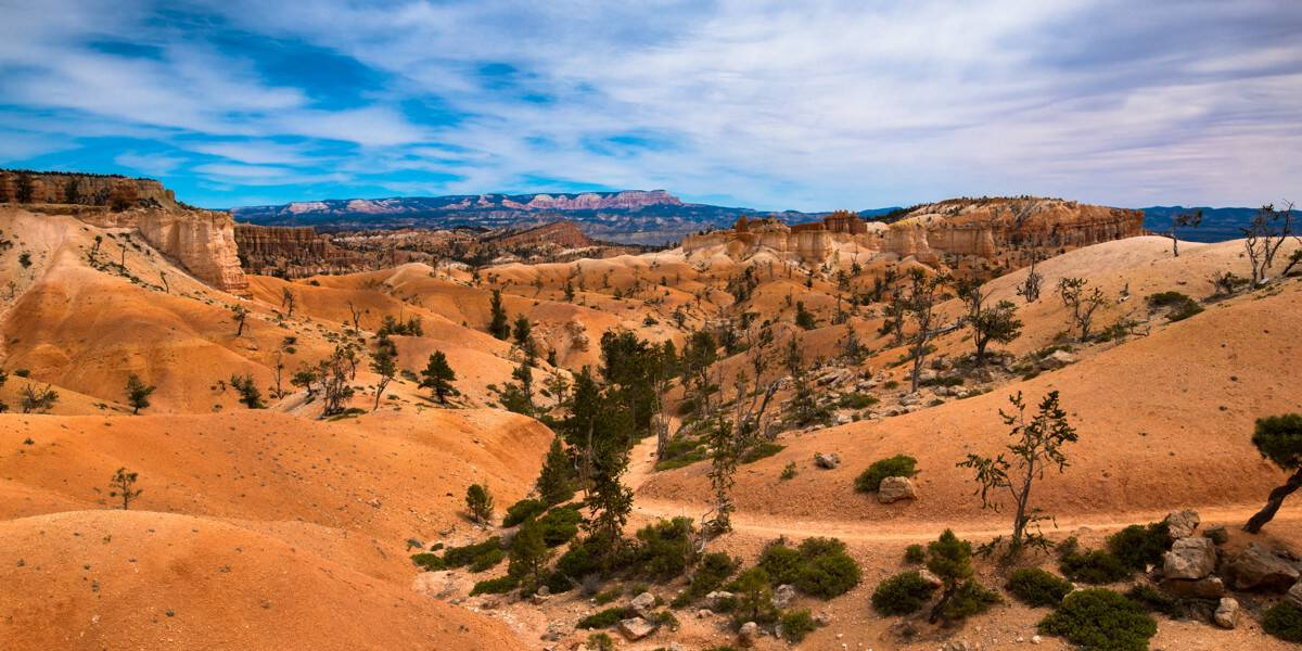 View along the Queen's Garden trail at Bryce Canyon.