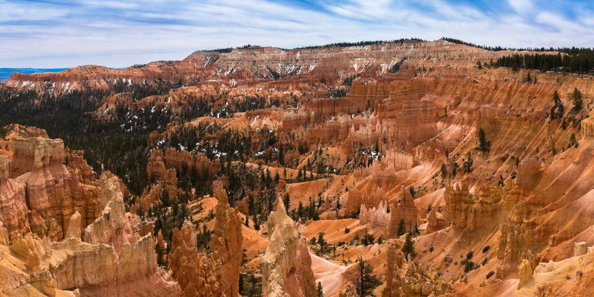 Amphitheater view from Sunrise Point at Bryce Canyon National Park.