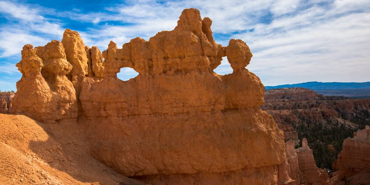 Fin, hoodoo and widow at Bryce Canyon National Park.