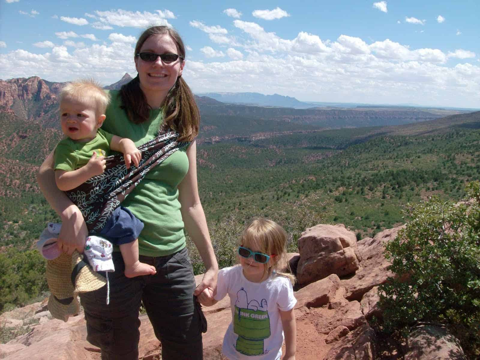 Pack a baby sling when hiking with kids.