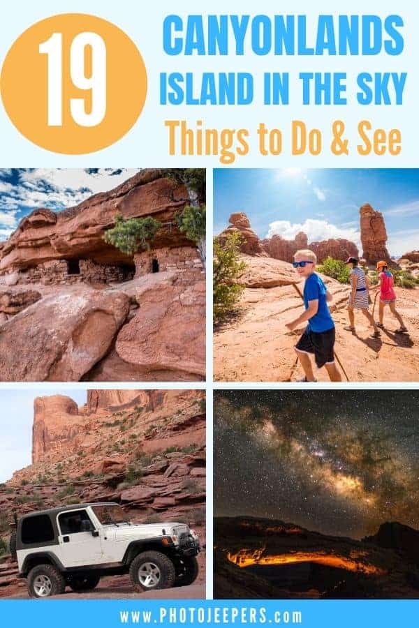 An expert's guide to the top things to see and do when visiting Canyonlands Island in the Sky. #nationalparks #canyonlands #utah #photojeepersils and best things to do when visiting Canyonlands Island in the Sky
