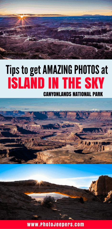 Canyonlands National Park, Utah - Island in the Sky - is a beautiful national park in the U.S. It has vast landscape vistas and canyons carved by the Colorado and Green Rivers. Check out our favorite 6 things to see at Canyonlands National Park, Island in the Sky. We even share some tips on how to take the best pictures in Canyonlands Island in the Sky! You'll definitely want to read the Island in the Sky guide and save it to your travel board before you plan your trip to Canyonlands.
