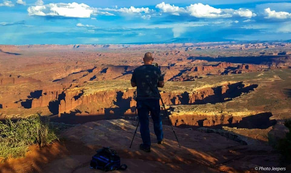 Canyonlands National Park, Utah - Island in the Sky photographer at Grand View Point