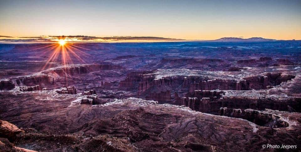 Canyonlands National Park, Utah - Island in the Sky sunrise at Grand View Point