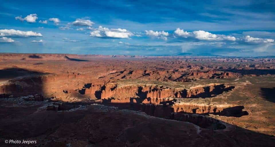 Canyonlands National Park, Utah - Island in the Sky Grand View Point white rimmed canyons