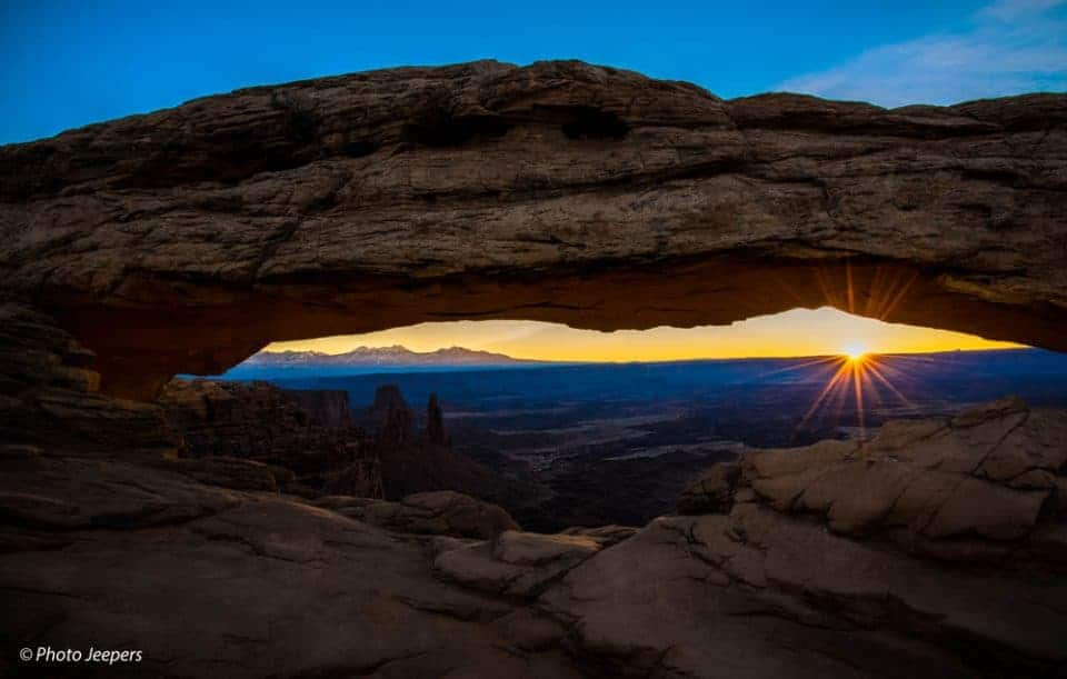 Canyonlands National Park, Utah - Island in the Sky Mesa Arch at sunrise