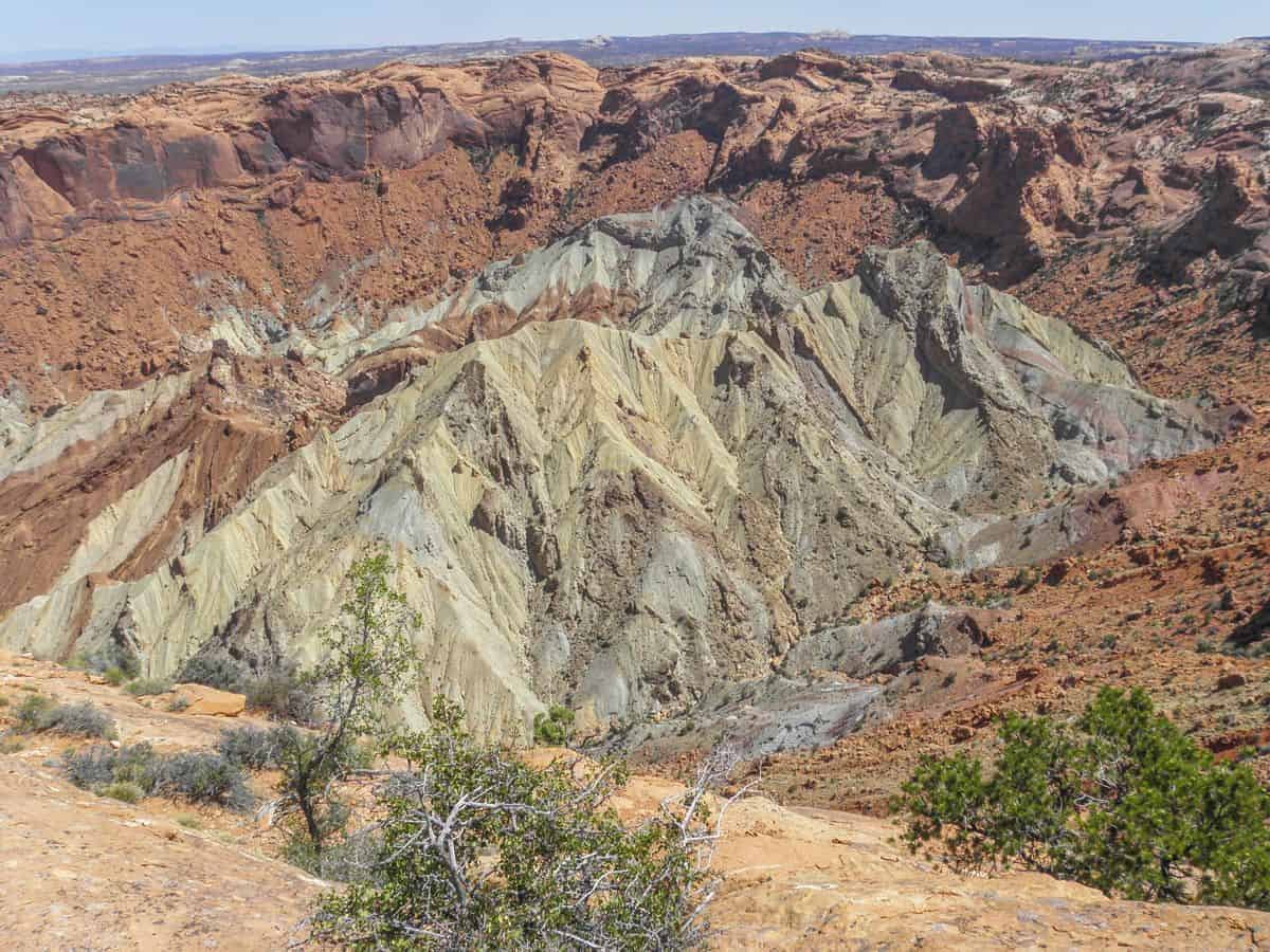 Upheaval Dome at Canyonlands is a puzzling geological formation.