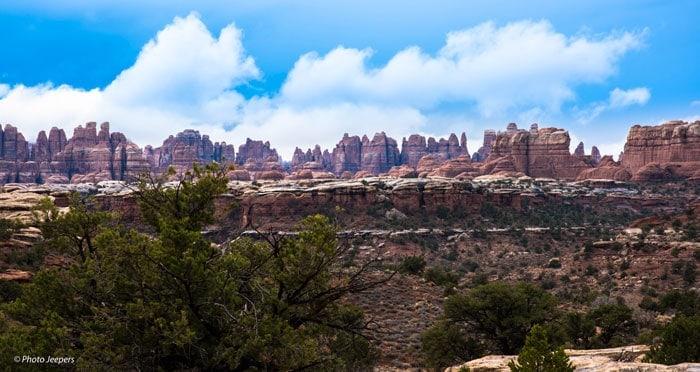 Needles rock formations at Canyonlands National Park, Needles District, Utah