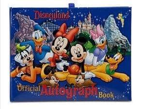 Disney Packing List item, Official Disney Autograph book
