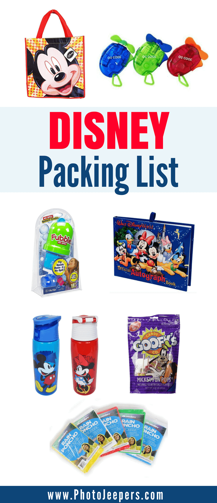 If you're planning a trip to Disney, you'll want to check out this Disney packing list first. It has everything you need to bring with you inside the Disney park including things to pack for kids. This packing list will be a lifesaver for Disney or any amusement park you may travel to this year. It includes items and tips for food & drink, clothing & gear, personal items and budget-friendly souvenirs and things to keep kids happy during the day. Make sure you save these things to bring for Disney to your travel board so you can find it later.