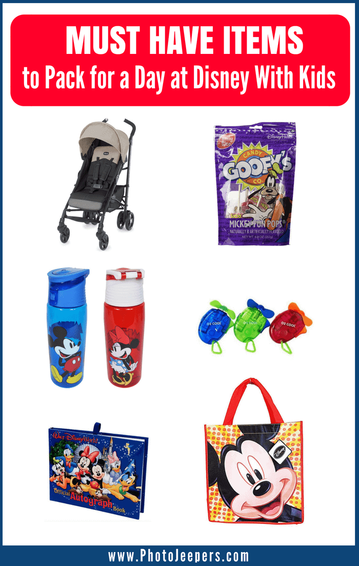 Must-have items to pack for a day at Disney with kids