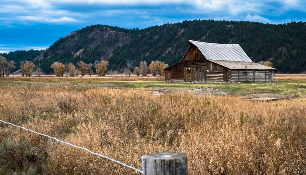 Moulton Barn in the fall is a good photo spot at Grand Teton.