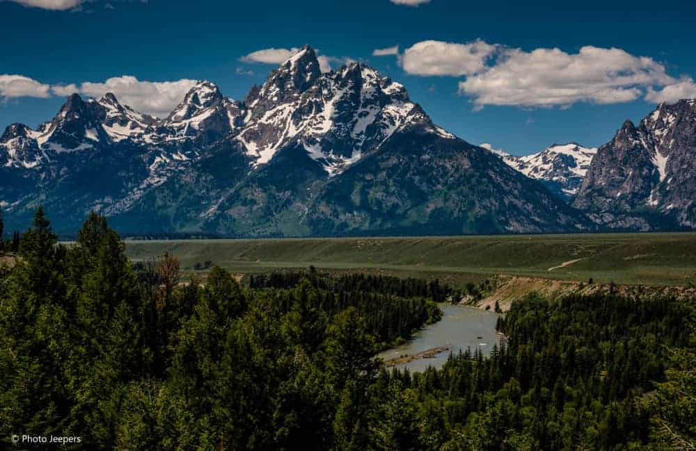 Snake River Overlook at Grand Teton National Park.