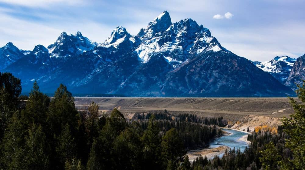 Snake River Overlook in the fall at Grand Teton National Park