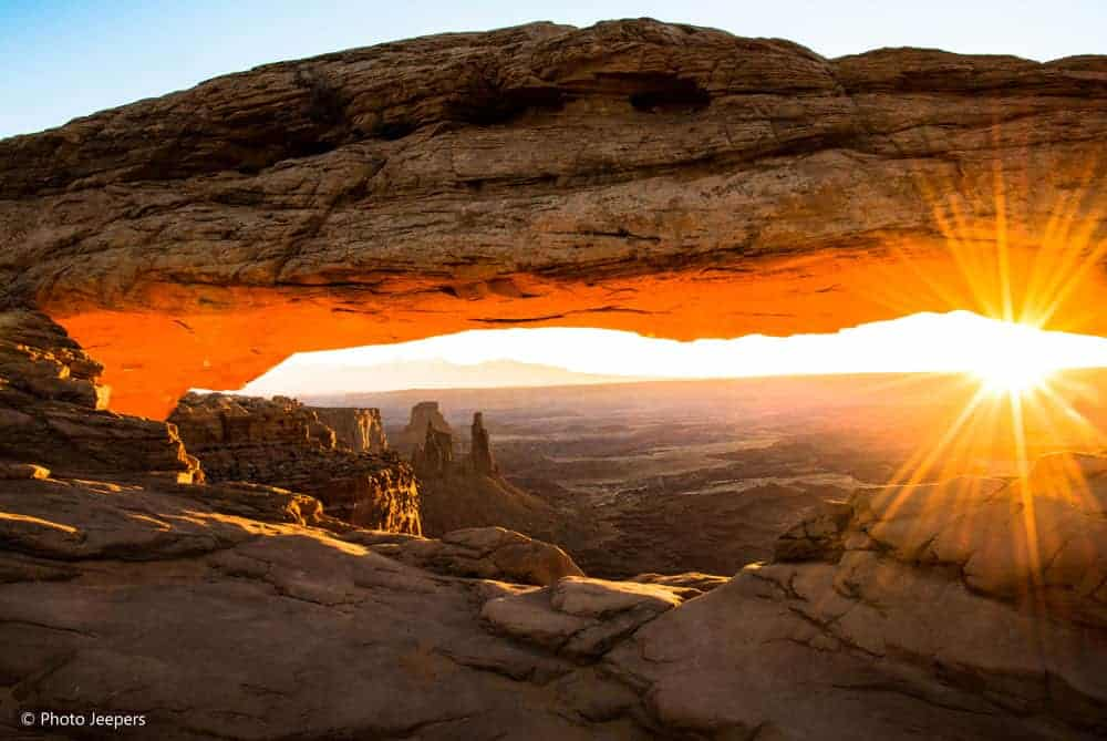 Mesa Arch at sunrise at Canyonlands National Park in Utah, USA