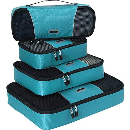 Travel Packing Cubes teal