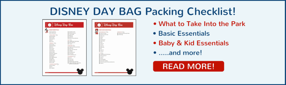 Disney Day Bag Packing Checklist Read More