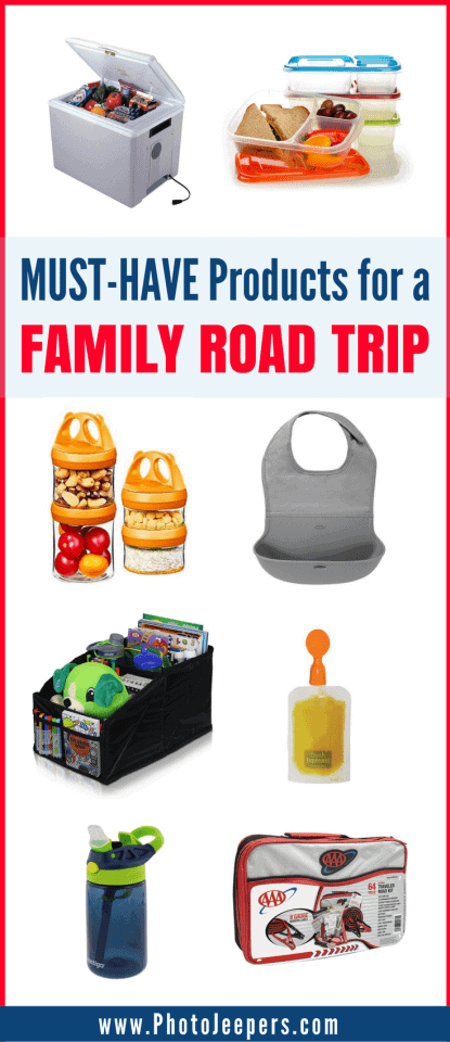 Are you looking for the best items to pack for a family road trip? A successful road trip with kids takes planning and organization. Pack these items for your family road trip to help with comfort, safety, entertainment and eating while driving to your destination. We share our favorite road trip products you need to pack. Make sure you save this to your family travel board so you can refer to this before your next family road trip!