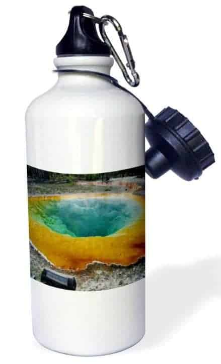 National Park water bottle with Yellowstone graphic