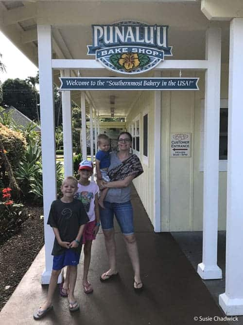 bake shop - Big Island of Hawaii with kids.