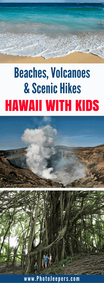 If you're planning a trip to Hawaii with kids, you have to read this post. We will share our favorite 8 things to do with kids in Hawaii during your family vacation. This includes easy hikes in Hawaii, volcanoes in Hawaii, seeing Hawaii from the air, and much more. Come check out these fun things to do in Hawaii with kids and save it to your travel board so you can find it later.