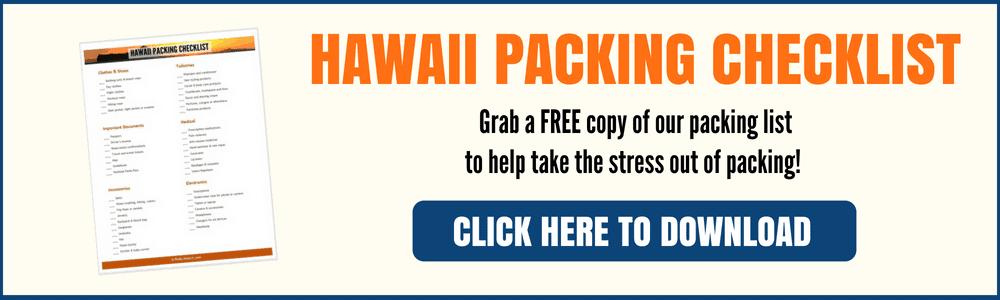 Hawaii Packing Checklist